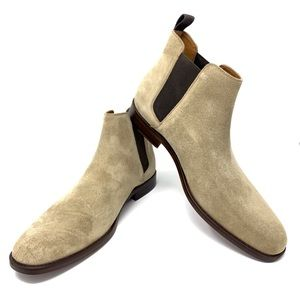 NIB Aldo Marq-R-37 Mens Suede Chelsea Boots Taupe